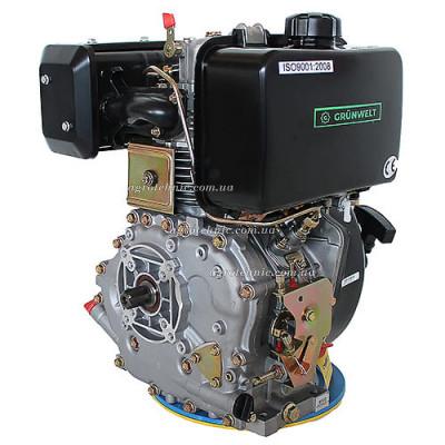 Дизельный двигатель GrunWelt GW186FB-W (9,5 л.с., вал шлицы)