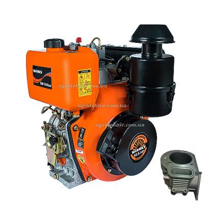 Дизельный двигатель Vitals DM 10.5sne (съемный цилиндр, вал шлицы)