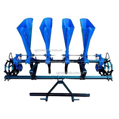 Сажалка чеснока четырехрядная для минитрактора (трехточечное крепление)