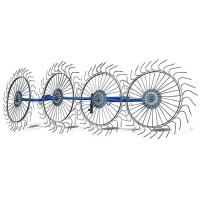 Грабли-ворошилки Солнышко 4-х колесные (AGROLUXE, 5 мм)