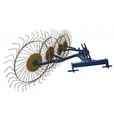 Грабли-ворошилки Солнышко 4-х колесные (трехточечное крепление, 6 мм)
