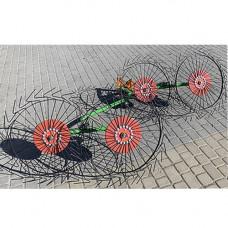 Грабли-ворошилки Солнышко 4-х колесные (Запорожье, 5 мм)