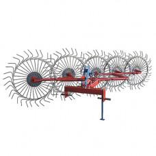Грабли-ворошилки Солнышко 5-ти колесные (Украина-Польша, трехточечное крепление, 6 мм)