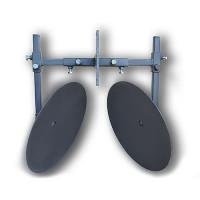 Окучник дисковый регулируемый 410 мм на рамке (два подшипника, шлицевые шайбы)