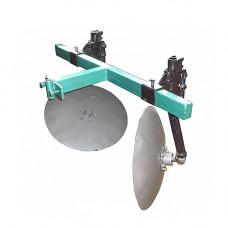Окучник дисковый регулируемый 420 мм на 2-ой сцепке (подшипники, шлицевые шайбы)
