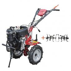 Мотоблок дизельный Кентавр МБ 2010ДЭ (электростартер, колеса 4.00-10)