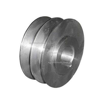 Шкив ремня 2-х ручейный на коленвал 19 мм (внешний диаметр 76 мм)