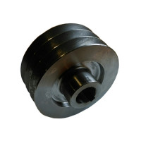 Шкив ремня ведущий 3-х ручейковый на коленвал 25 мм (внешний диаметр 76 мм)