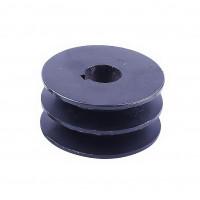 Шкив ремня ведущий 2-х ручейковый на коленвал 25 мм (внешний диаметр 75 мм)